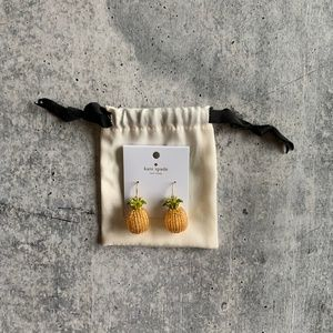 Kate Spade New Beaded Pineapple Dangle Earrings